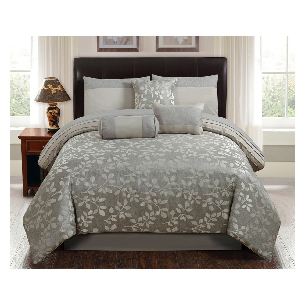 Image of 7pc King Selvy Comforter Set Silver - Riverbrook Home