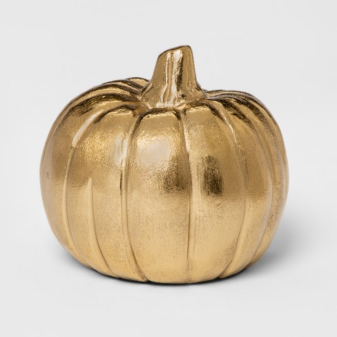 Decorative Pumpkin Figurine - Gold - Threshold™ - image 1 of 1