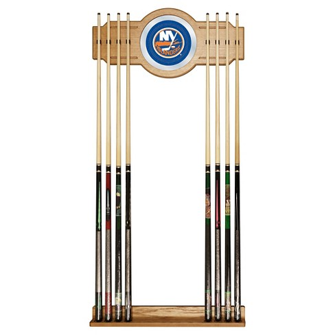 New York Islanders 2-Pc Wood and Mirror Wall Cue Rack - image 1 of 1