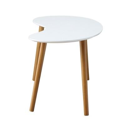 Oslo Bean Shaped Coffee Table White/Bamboo - Breighton Home : Target