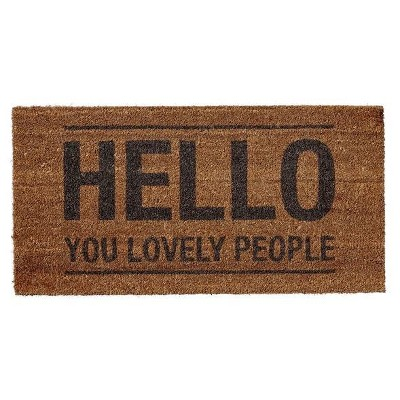 Coir Doormat  Hello You Lovely People  - 3R Studios