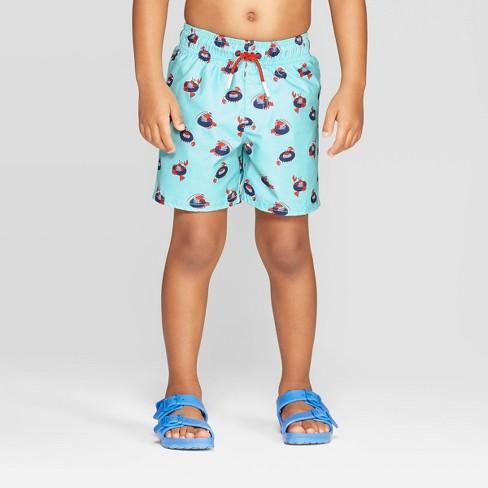 Toddler Boys Lobster Tube Swim Trunks Cat Jack Aqua