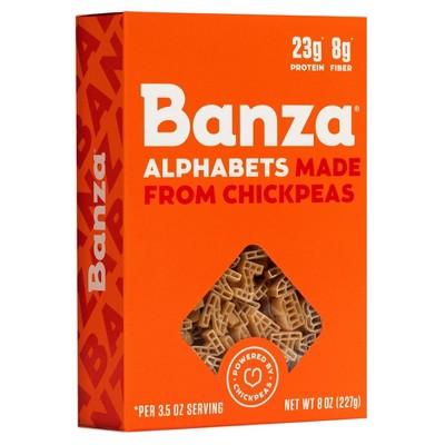 Banza Gluten Free Chickpea Alphabet Pasta - 8oz