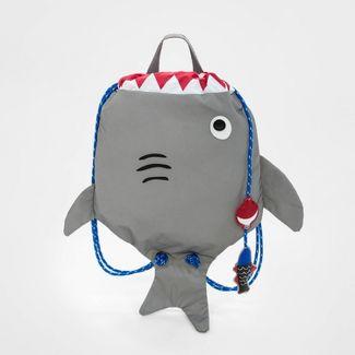 Boys' Drawstring Shark Backpack - Cat & Jack™ Gray