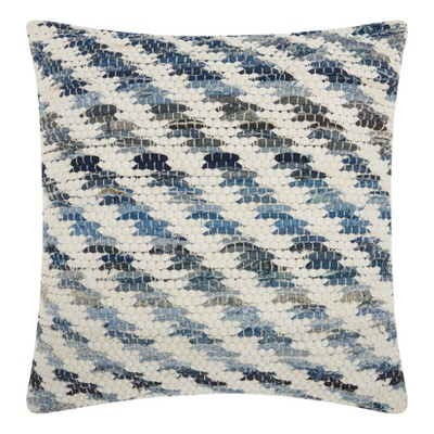 Stripe Throw Pillow Blue - Mina Victory