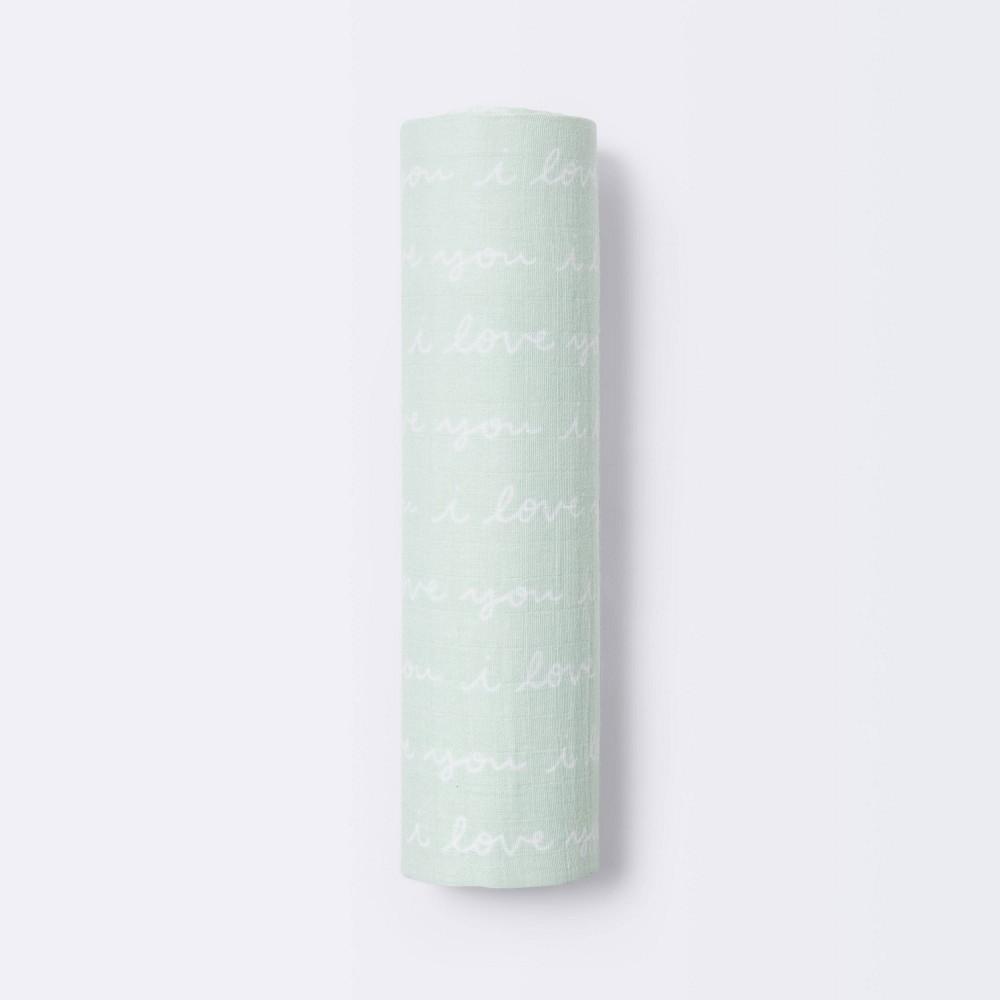 Muslin Swaddle Blanket I Love You Cloud Island 8482 Mint