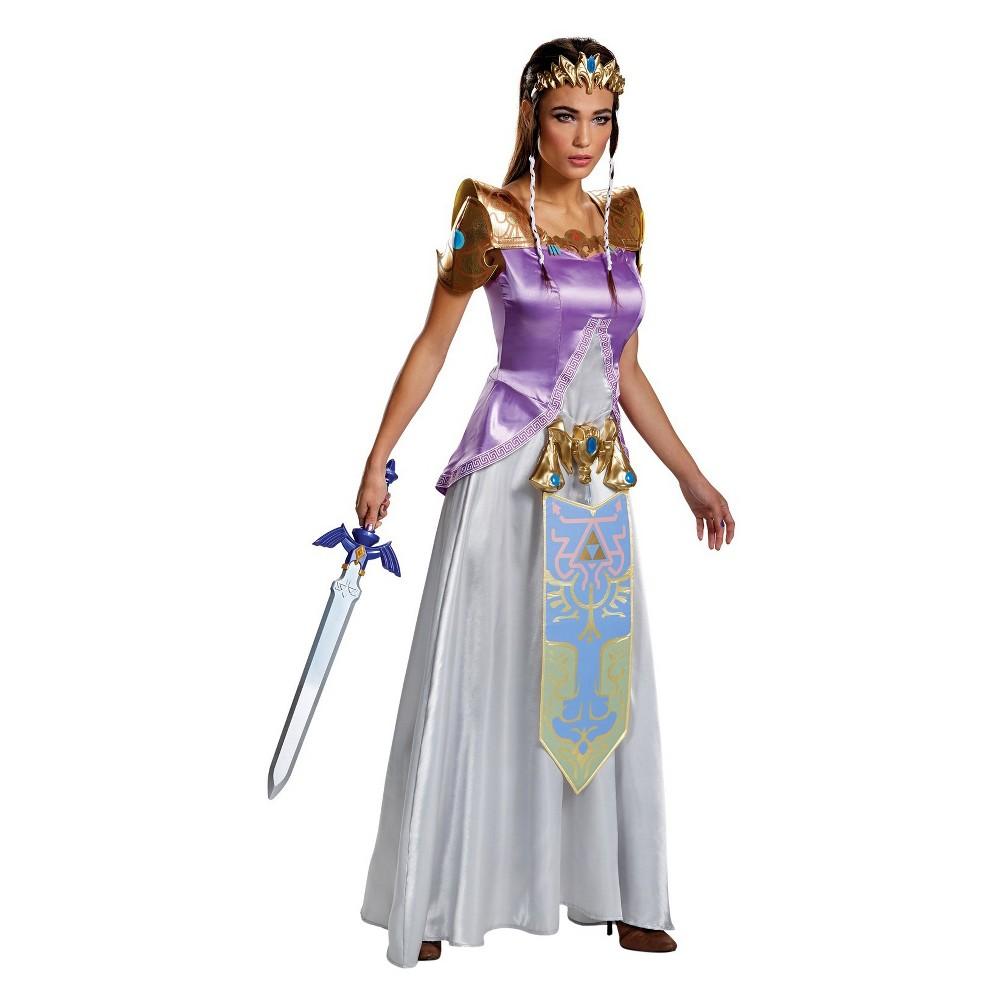 Legend Of Zelda Princess Zelda Deluxe Women's Costume X-Large, Size: XL, Multicolored