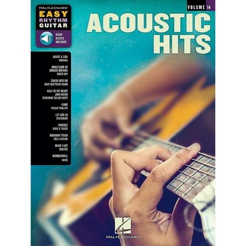 Hal Leonard Acoustic Hits - Easy Rhythm Guitar Series Volume 14 Book/Audio  Online