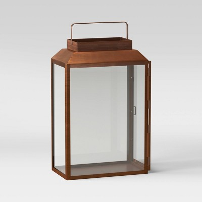 "21"" Large Metal and Glass Outdoor Lantern Copper - Smith & Hawken™"