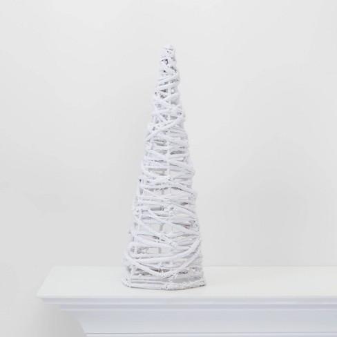 Large Lit Flocked Grapevine Cone Tree Decorative Figure - Wondershop™ - image 1 of 4