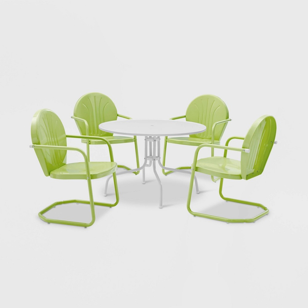Griffith 5pc Metal Outdoor Patio Dining Set - Key Lime - Crosley