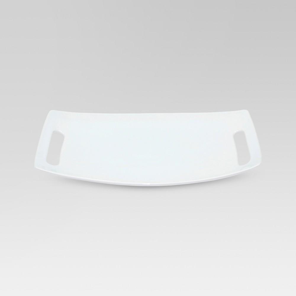 13 7 34 X 9 2 34 Porcelain Serving Platter With Handles Threshold 8482
