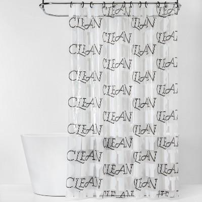 Clean/Dirty  Shower Curtain Bundle Black/White - Room Essentials™