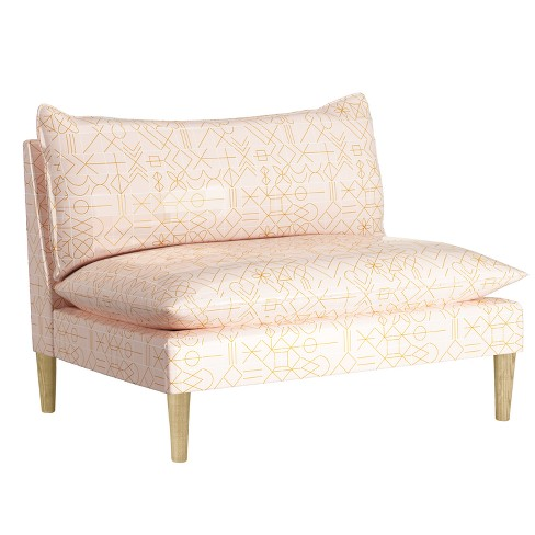 Pillow Top Armless Love Seat - Designlovefest - image 1 of 4