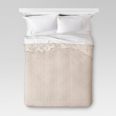 Natural Linen Quilt King Threshold Target