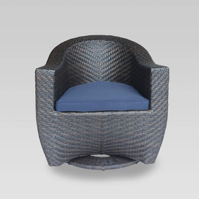 Larchmont Wicker Swivel Chair - Christopher Knight Home