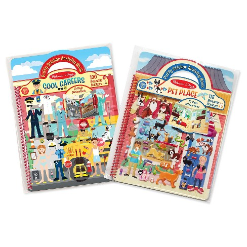 Melissa & Doug Puffy Sticker Activity Books Set: Cool Careers and Pet Place - image 1 of 4