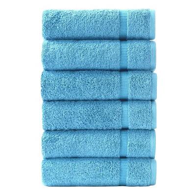 6pc Villa Hand Towel Set Aqua - Royal Turkish Towels