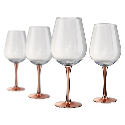 Artland Coppertino 22oz 4pk Red Wine Goblets Copper