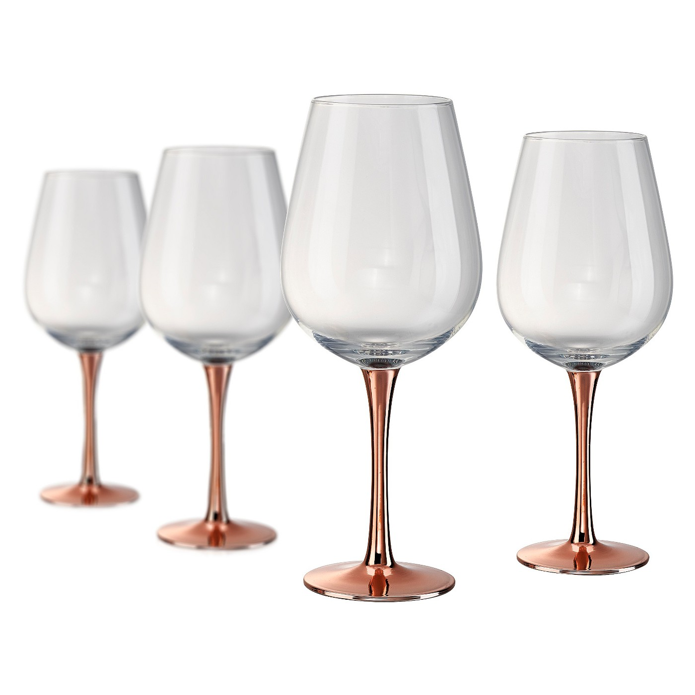 Artland Coppertino 22oz 4pk Red Wine Goblets Copper - image 1 of 1