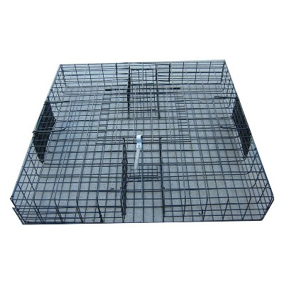 Rugged Ranch SQRTO Squirrelinator Trap CatchMor Live Chipmunk Squirrel Rat Mouse Rodent Small Animal Metal Wire 2 Door Trap Cage (Trap Only), Black