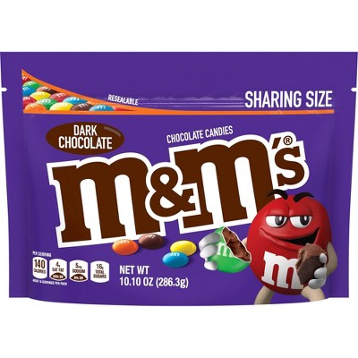 M&M's Dark Chocolate Sharing Size Chocolate Candies Pouch - 10.1oz