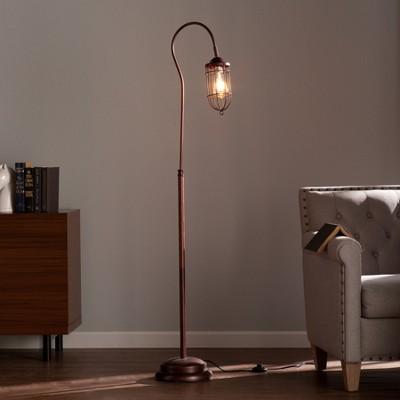 "62"" Taranis Floor Lamp Brushed Bronze (Includes Energy Efficient Light Bulb)- Aiden Lane"