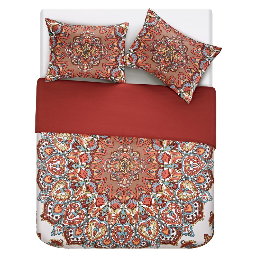 3pc Queen Tamara Duvet Cover Set - Vcny Home, Multicolored