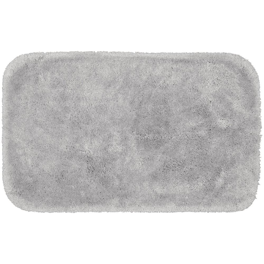 """Image of """"24""""""""x40"""""""" Finest Luxury Ultra Plush Washable Nylon Rug Platinum Gray - Garland, White Gray"""""""
