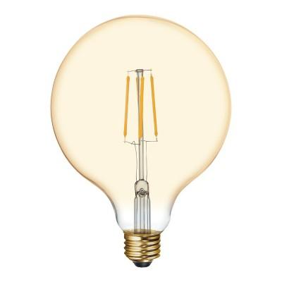 General Electric 60W VintaG40 Globe Filament Amber LED Light Bulb White