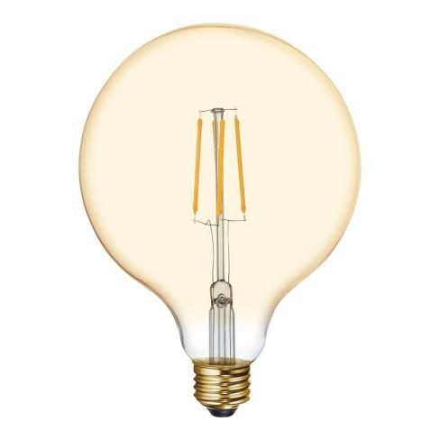 General Electric 60W VintaG40 Globe Filament Amber LED Light Bulb White - image 1 of 2