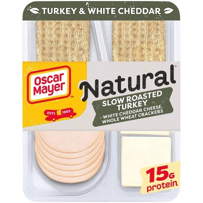 Oscar Mayer Natural Plate with Turkey, White Cheddar and Crackers - 3.3oz