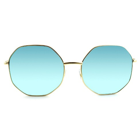 f74fe9680ff Women s Oversized Sunglasses with Blue Lenses - Wild Fable™ Golden Mist
