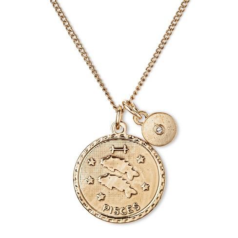 "Women's Short Necklace - Antique Gold (16"") - image 1 of 2"