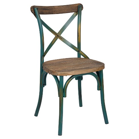Zaire Side Dining Chair - Antique Turquoise - Acme - image 1 of 1