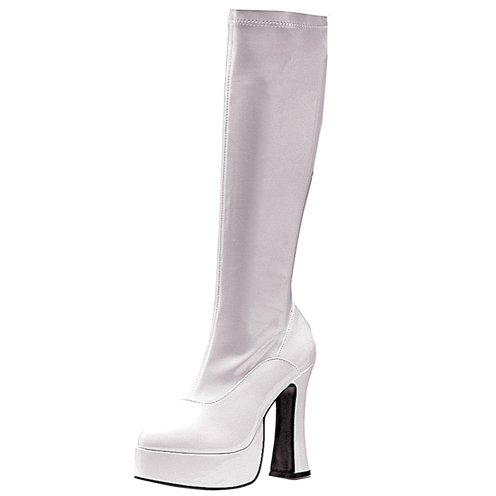 Women's ChaCha Costume Boots White Size 7, Size: 7.0