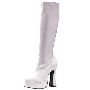 Halloween Adult ChaCha Costume Boots White Size 6, Women