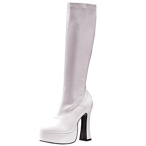 Halloween Adult ChaCha Costume Boots White Size 6, Women's, Size: 6.0