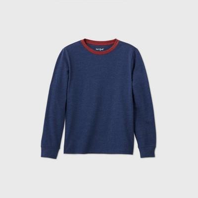 Boys' Long Sleeve Favorite T-Shirt - Cat & Jack™ Navy XS