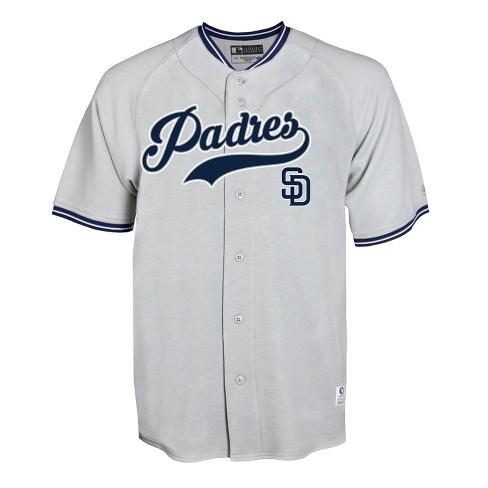 the latest 2c183 64d01 MLB San Diego Padres Men's Gray Retro Team Jersey