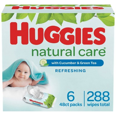 Huggies Natural Care Refreshing Scented Baby Wipes - 288ct