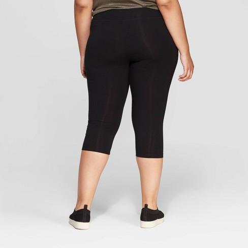 1b24324d1b279 Women's Plus Size Capri Leggings - Ava & Viv™ Black : Target