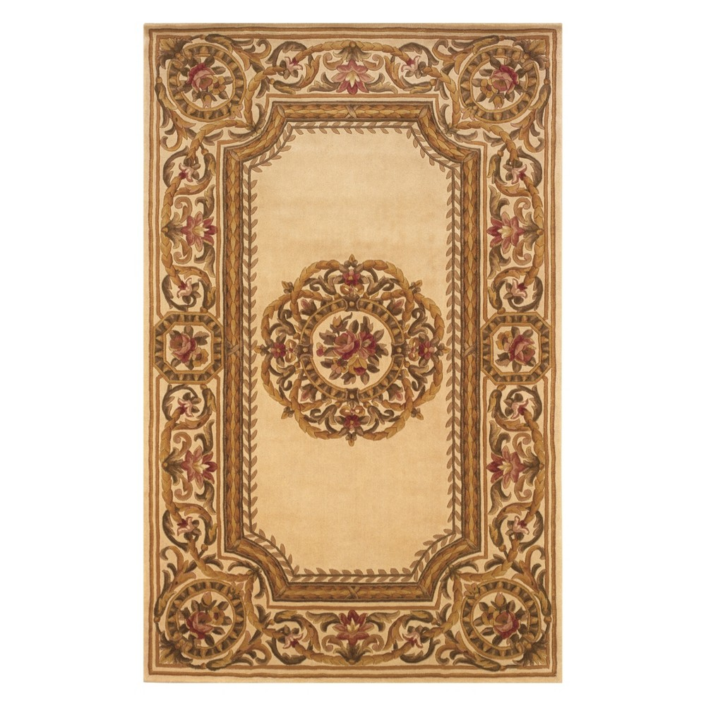 2'X3' Floral Tufted Accent Rug Ivory - Momeni