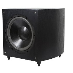 Monoprice 12-inch Powered Subwoofer - Black, 150-watt (RMS)