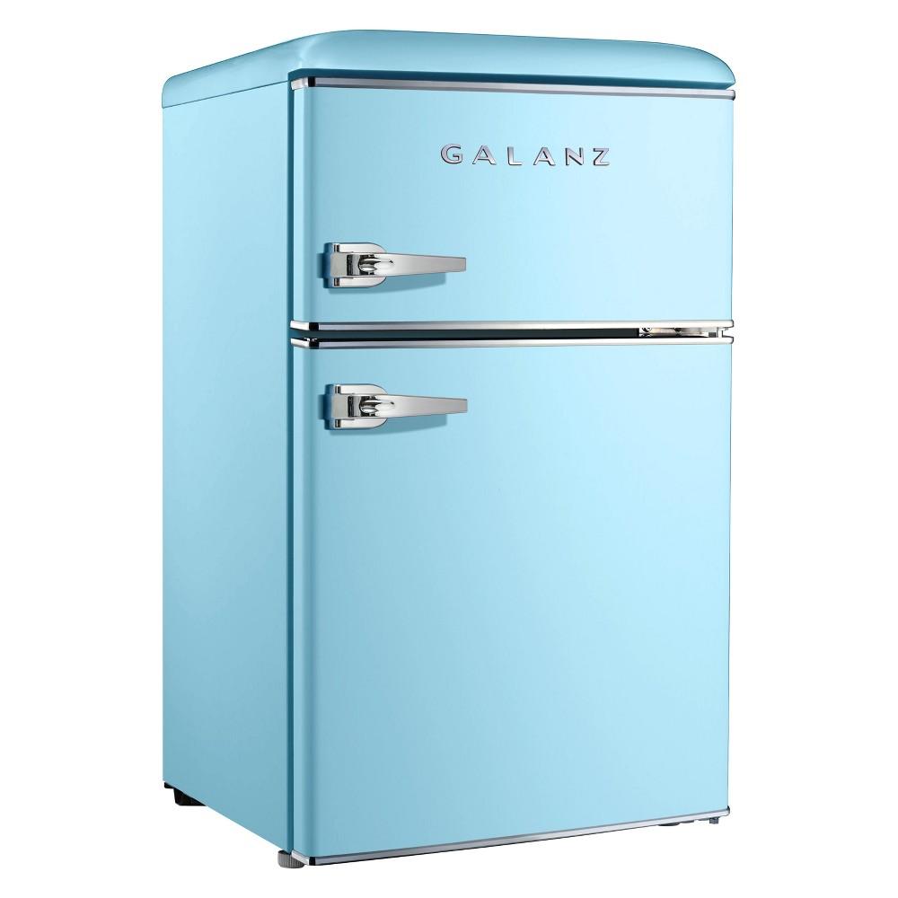 Galanz 3.1 cu ft Retro Mini Fridge – Blue GL31BEE, Light Blue 53228812
