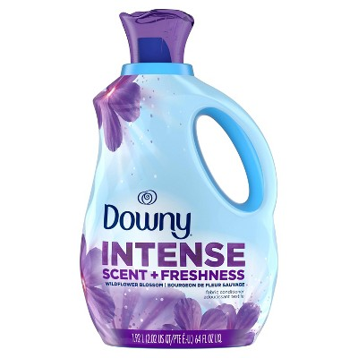 Downy Intense Scent + Freshness Wildflower Blossom Scent-Boosting Liquid Fabric Softener - 64 fl oz