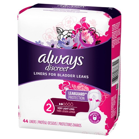Always Discreet Incontinence Liners - Very Light Absorbency - Long - 44ct - image 1 of 4
