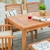 6pc Acacia Wood Simple Patio Dining Set - Saracina Home  - image 4 of 4