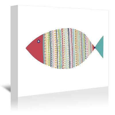 Americanflat Fish 1 by Lisa Nohren Wrapped Canvas