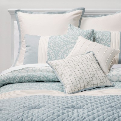 King 8pc Brighton Comforter Set Teal - Sunham Home Fashions
